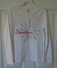 New With Tags Gymboree Burst Of Spring Long Sleeve White Sunshine Top Size 4
