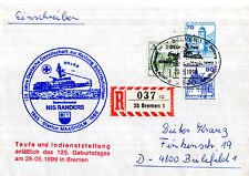 1990 GERMAN LIFEBOAT NIS RANDERS CACHED COVER & MAGAZINE PICTURE