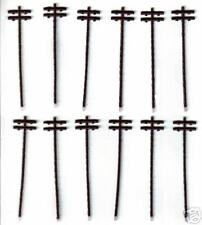Telephone / Power Poles set (qty.12) N-Scale