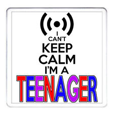 TEENAGER GIFT COASTER I Can't Keep Calm I'm A Teenager Mug & Keyring Available.