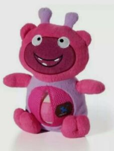NWT Charming Pet PINK Monster Squeaky Doggie Chew Toy With Tennis Ball Belly