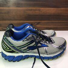 Brooks Adrenaline GTS-15 Running Shoes Men Size 11M Blue/Silver/Green 110181D168