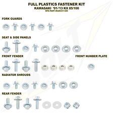 Full Plastic Fastener Bolt Kit Kawasaki 2001-2013 KX85 KX 85 KX100 KAW-011385