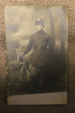Rare Original Pre to Early WW2 Polish Army Soldier's Real Photograph Postcard
