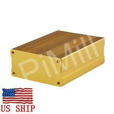 Aluminum Project Box Enclosure Case Electronic Diy 100x76x35mm Gold Us Stock