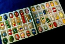 TWO BOXES WOODEN EASTER ORNAMENTS DECORATIONS--48 PIECES--