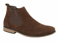 MENS BOYS SUEDE IMITATION  SLIP ON CHELSEA HIGH QUALITY BOOT 7 8 9 10 11 12