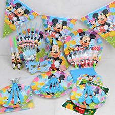 Disney's Mickey Mouse Birthday Wedding Party Decoration Tableware Kit - 16 Pcs