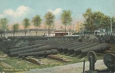 Fortress Monroe VA * Relics of the Civil War  Cannon in Rows  ca 1908