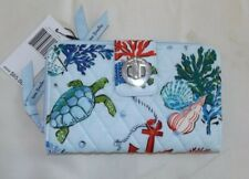 VERA BRADLEY RFID Turnlock & Zip Wallet - Anchors Aweigh - Turtle Shells - NWT