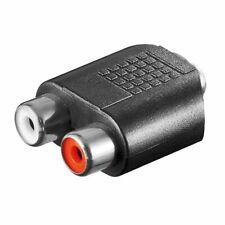 Klinkenbuchse 3,5mm Stereo auf Chinch RCA Buchse Kupplung rot weiß Hifi Adapter
