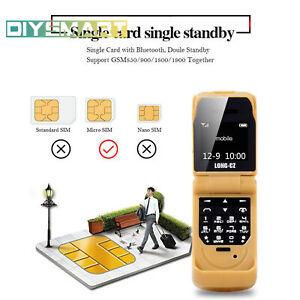 Smallest Mini Flip Mobile Phone Bluetooth Dialer Voice Changer Cell Phone AU