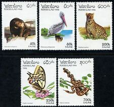 LAOS N°1212/1216** Ours, Papillon, Serpent... 1996, Animals Sc#1260-1264 MNH