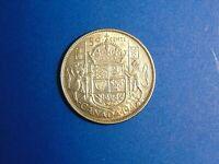 Canada 50 Cents KM# 36 1943(no mint mark)    A506  I COMBINE SHIPPING