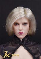 "Black Widow Natasha 1:6 Head Sculpt Model short hair F 12"" Figure JXtoys 6.0Ver."