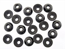 Chevy Serrated Flange Nuts- M6-1.0mm Thread- 10mm Hex- 16mm Flange- Qty.20- #193