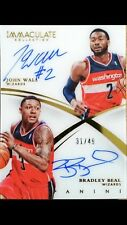 2014-15 Immaculate John Wall Bradley Beal Dual Autograph /49! Wizards!