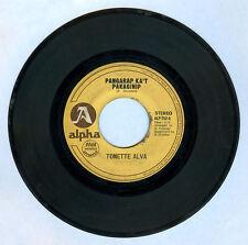 Philippines TONETTE ALVA Pangarap Ka't Panaginip OPM 45 rpm Record
