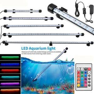 19-112CM Aquarium Fish Tank LED Submersible Light Underwater White + Blue RGB AU