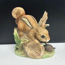 Homco Squirrel figurine chipmunk turtle 8882 vintage statue sculpture striped