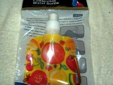 WATER BOTTLE YELLOW FRUITY LOK COLLAPSIBLE  BOTTLE ECO-FRIENDLY CLIP ON TO BELT