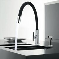 360°  Kitchen Bathroom Swivel Tap Sink Single Handle Mixer Faucet Zinc Alloy Tap