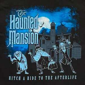 DISNEY PARKS HAUNTED MANSION HITCHHIKING GHOST HITCH A RIDE SHIRT M - NWT