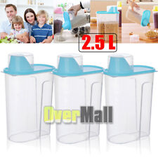 2.5/5L Double Chamber Dry Food Cereal Dispenser Airtight Kitchen Storage Machine