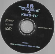 18 Weapons of Kung-Fu (DVD) !!DISC ONLY!!!FREE 1st CLASS SHIPPING!!         B100