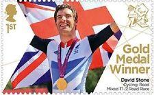 UK ParalympicsGB Gold Medal Winner Single Stamp - David Stone MNH 2012
