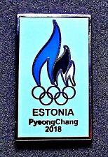 OFFICIAL TEAM ESTONIA NOC 2018 PYEONGCHANG KOREA OLYMPIC GAMES PIN FOR MEDIA