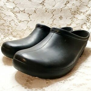 Sloggers Slip On Rubber Clogs Black Size 10 Womens