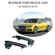 For Audi A3 A4 A5 B8.5 Smoked Turn Signal LED Light Sequential Mirror light 2PCS