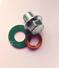 Oil Pan Drain Sump Plug M12x1.25mm + Copper and Fibre Washers - PN026
