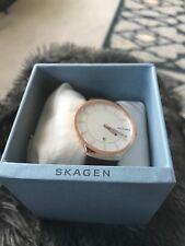 Skagen Grenen Dark Brown Leather Watch SKW6458 Mens