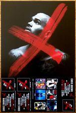 CHRIS BROWN 'X' Ltd Ed Discontinued RARE Poster +FREE Hip-Hop/R&B/Pop Poster!