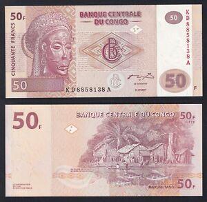 Congo 50 francs 2007 FDS/UNC  A-09