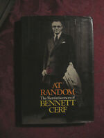 At RANDOM Reminiscences of BENNETT CERF 1977 Random House 1st Edition Printing!