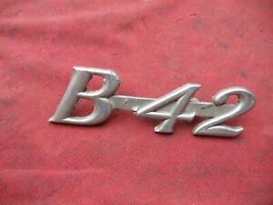 Antique B Model Mack truck Front Hood emblem B-42