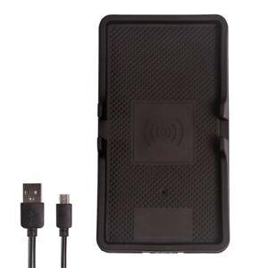 Wireless Charger Kabellose Gummi Ladematte 10 W Ladeschale Micro USB Kabel 0,8 m