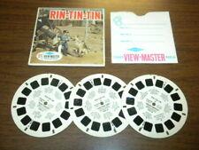 RIN TIN TIN/TV WESTERN (B467) Viewmaster 3 reels PACKET SET