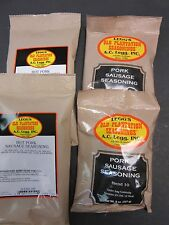 Variety Packs Breakfast Pan Sausage Seasoning Venison for 100 Lbs Orig & Hot