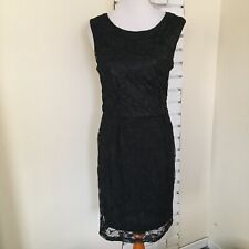 Jonathan Martin LBD Lace Shimmer Floral Dress Nylon 10 Cocktail