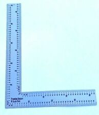 "N Scale  Model Builder's Framing Square / Ruler  3.85"" x 2.98""  Stainless  USA"
