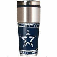 Dallas Cowboys NFL 360 Wrap Travel Tumbler Football Fan Coffee Mug Cup