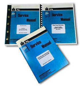 FARMALL INTERNATIONAL 4568 TRACTOR SERVICE MANUAL REPAIR TECHNICAL OVERHAUL SET