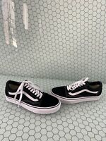 VANS Old Skool Black Canvas/Suede Lace Up Low Top Shoes Mens Size 6.5  Women's 8