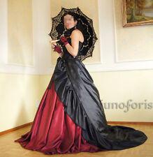 Schleppe für Ballrock schwarz viktorian Tornüre gothic WGT