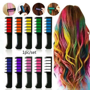 10 Colors Temporary Hair Color Chalk Hair Styling Mini Hair Dye Comb Disposable