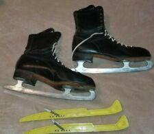 Vintage Men's Black Ice Skates - Saber B 00004000 lades - Made in Canada Size 11